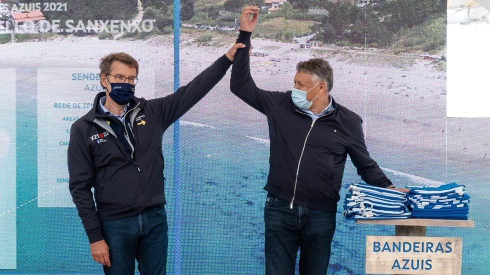 Entrega de banderas azules 2021: Sanxenxo, récord de España.El hombre fue atendido de sus lesiones en el centro de salud de Baltar, en Portonovo