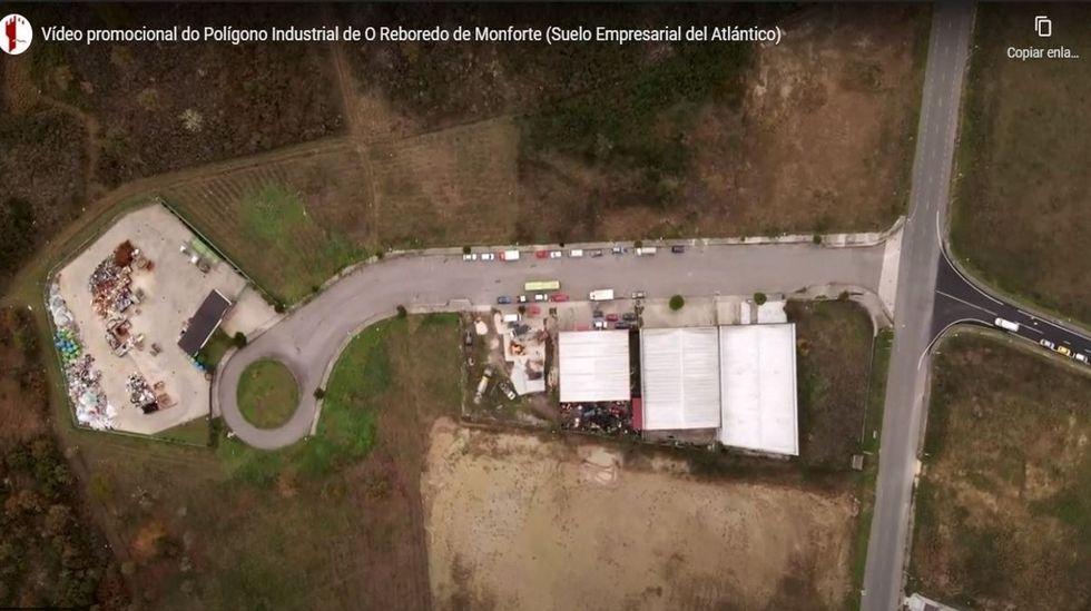Captura de pantalla del vídeo promocional, con una vista aérea del polígono