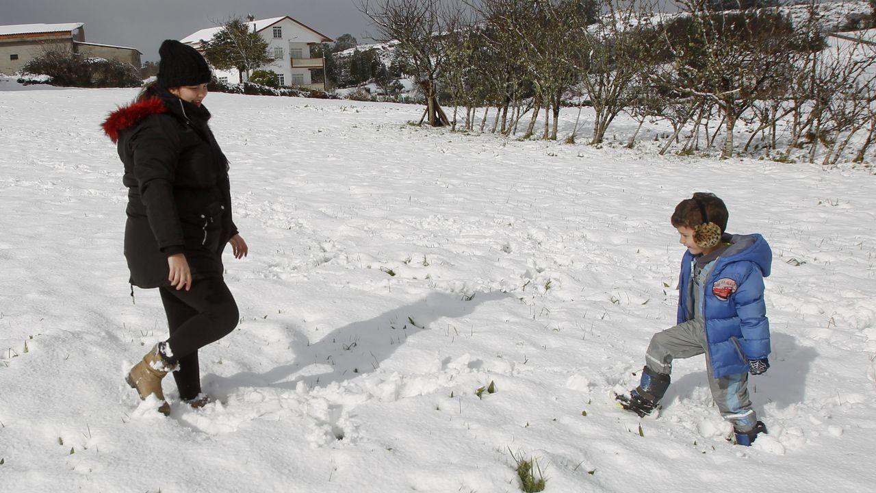 Un manto blanco que dejó una bella estampa en la comarca