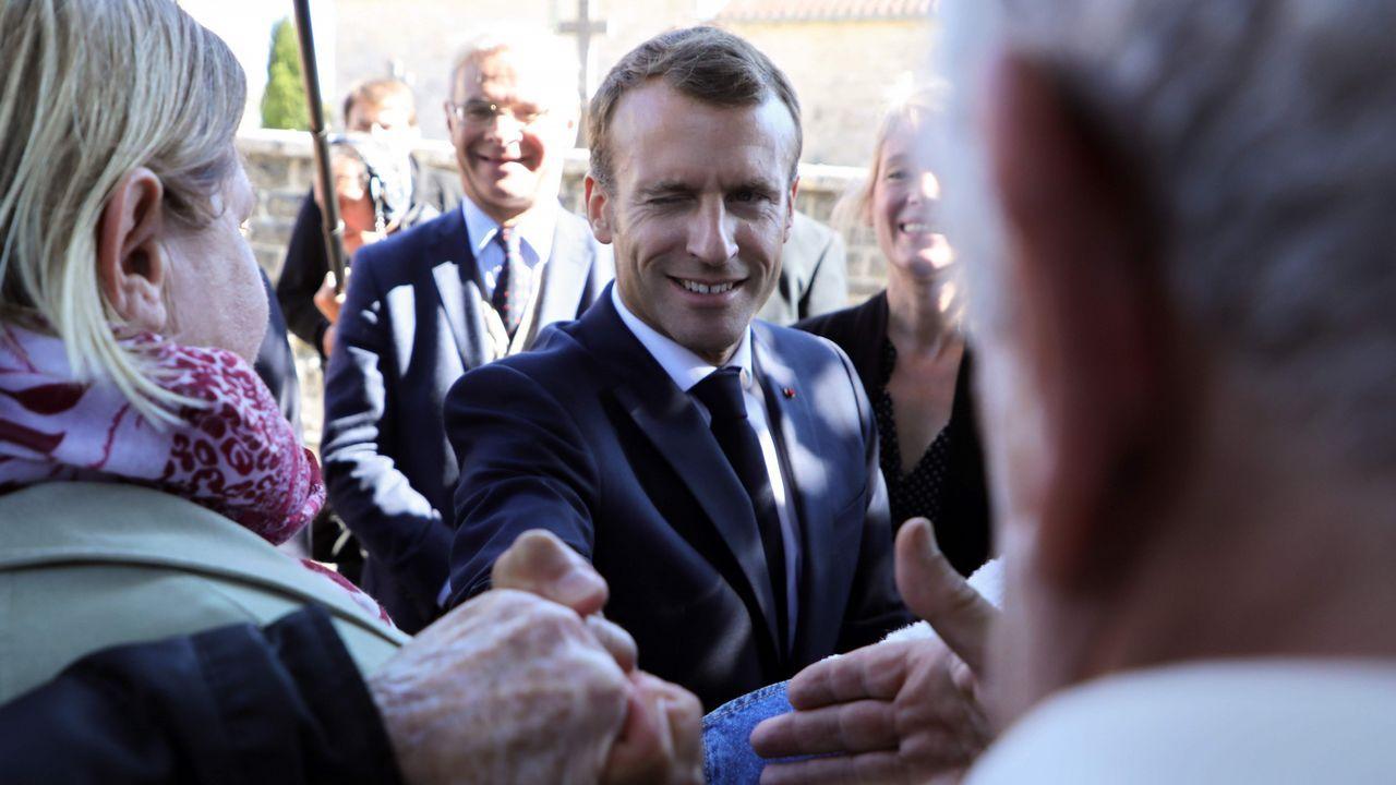 Emmanuel Macron en un homenaje a la Constitución