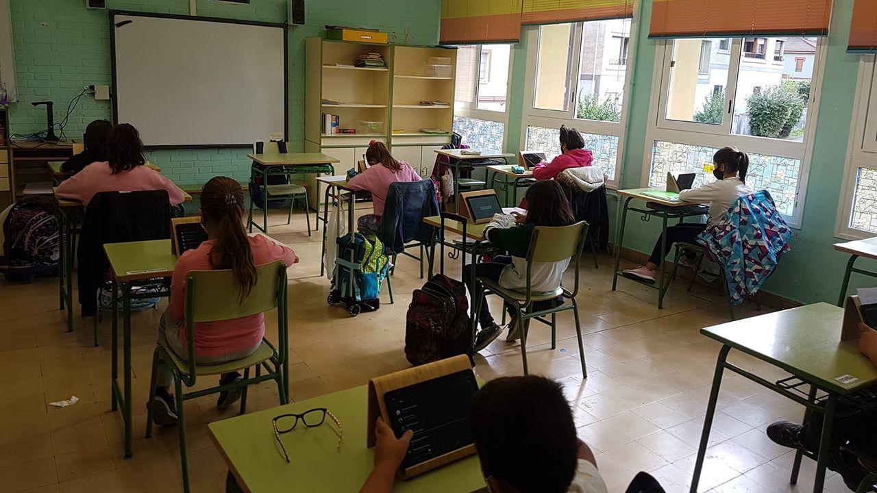 Alumnos del CRA Lena