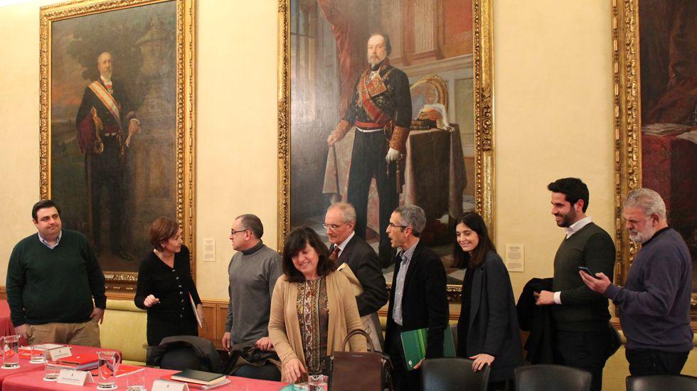 Integrantes de la Comisión de Seguimiento del pacto de concertación local de Gijón
