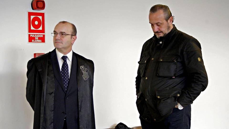 Jorge Dorribo, en los juzgados en 2012.