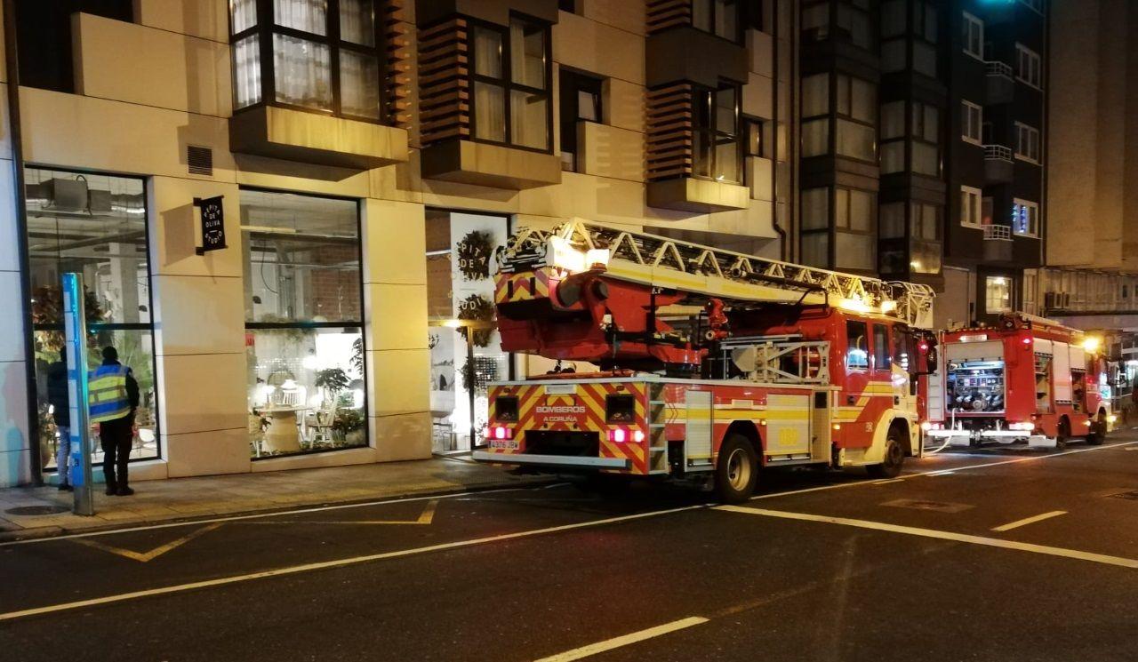 Incendio en la avenida de Finisterra