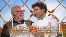 Josecho concursante de MasterChef y Pepe, jurado del programa