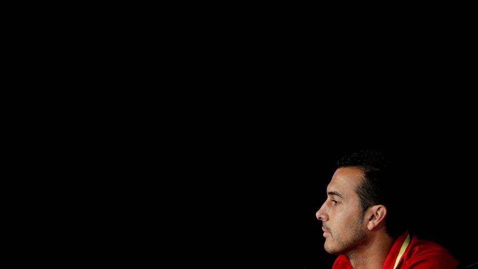 Pedro y la polémica De Gea.Pedro Rodríguez en un test con el Chelsea