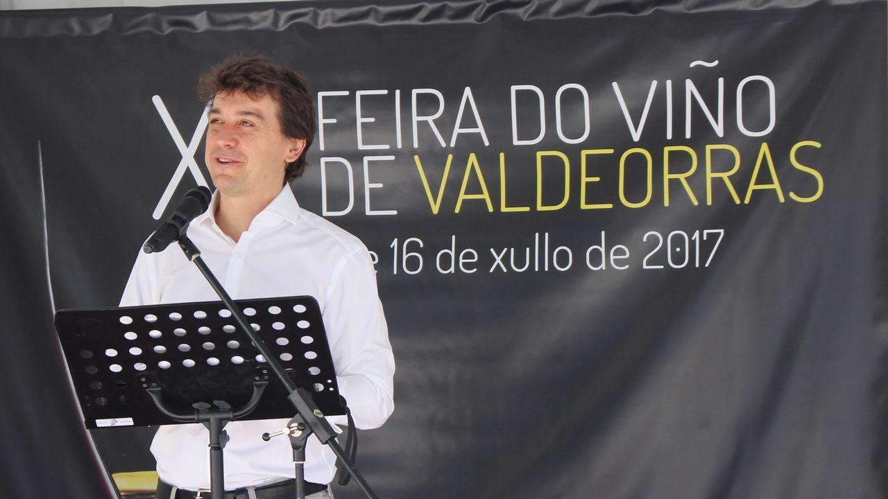 Un brindis de sensaciones en Valdeorras.Imagen de la Feira do Viño del 2019