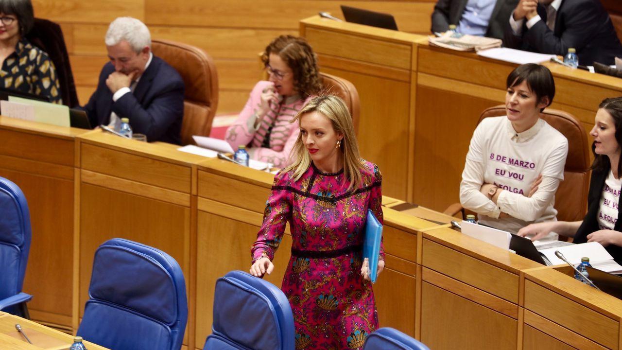 La conselleira Fabiola García, en el Parlamento