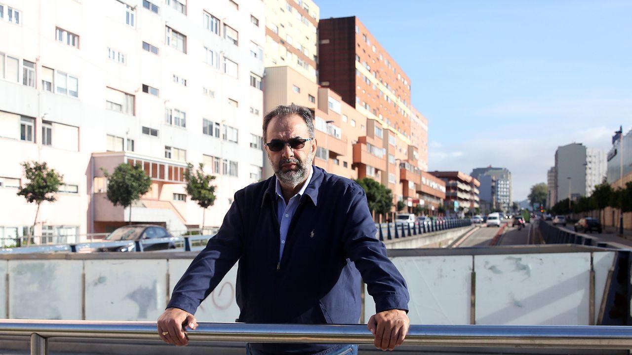 Pahino en la Travesía de Vigo donde un Guardia Civil disparó y mató a un trabajador en una manifestación del 1º de Mayo de 1975 organizada por él.