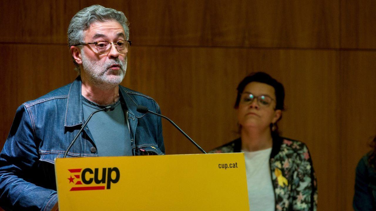 Carles Riera, portavoz de la CUP
