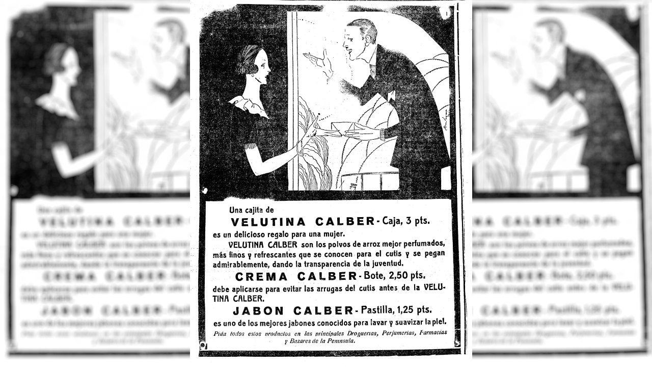 Anuncio de Velutina Calber publicado en La Voz de Galicia el 22 de abril de 1924