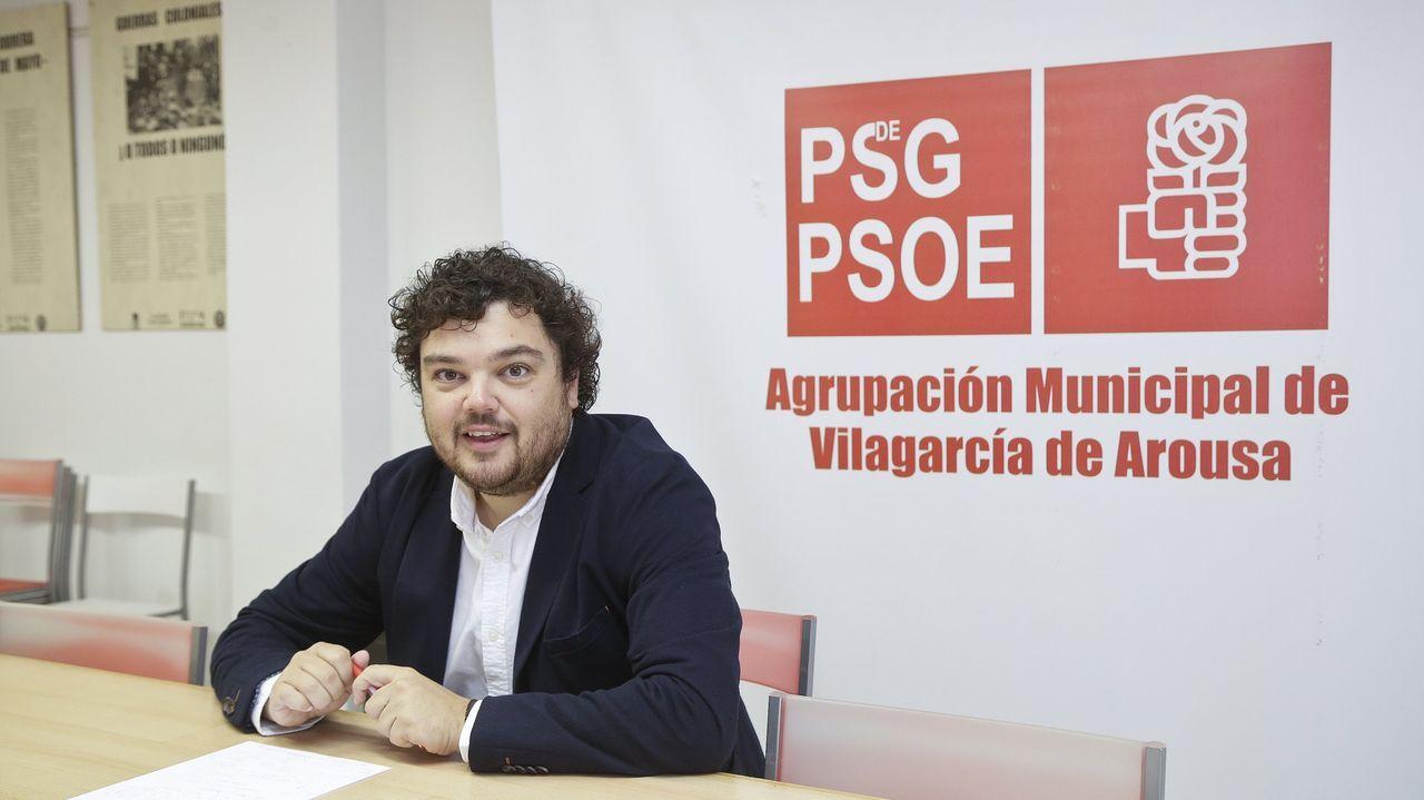 Reapertura de la lonja del Concello de Vigo tras el covid-19.Adrián Barbón en la teleconferencia con los presidentes autonómicos