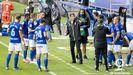 cooling break Real Oviedo Deportivo Carlos Tartiere Ziganda.Ziganda da instrucciones a sus futbolistas en un descanso ante el Deportivo