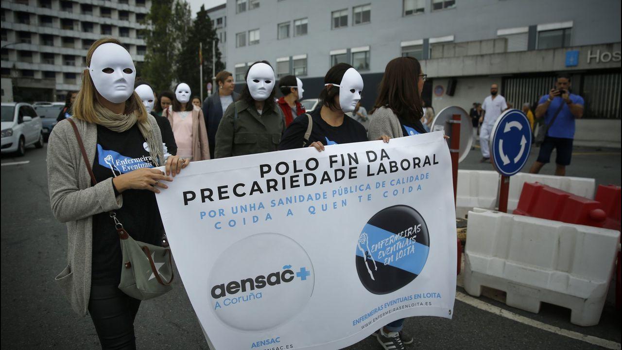 Protesta enfermeras eventuales el pasado 11 de octubre ante el Chuac