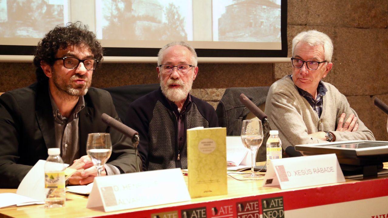 La guerra de la Independencia volvió a Elviña.Fran Rei y Félix Rodríguez presentan «Saaabor!» en Outeiro de Rei