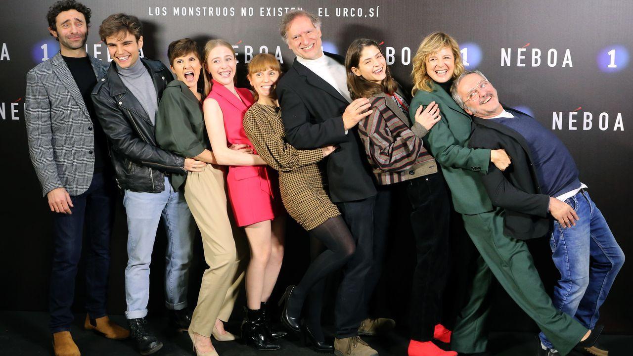 Este lunes por la mañana, antes del preestreno, los actores participaron en una rueda de prensa