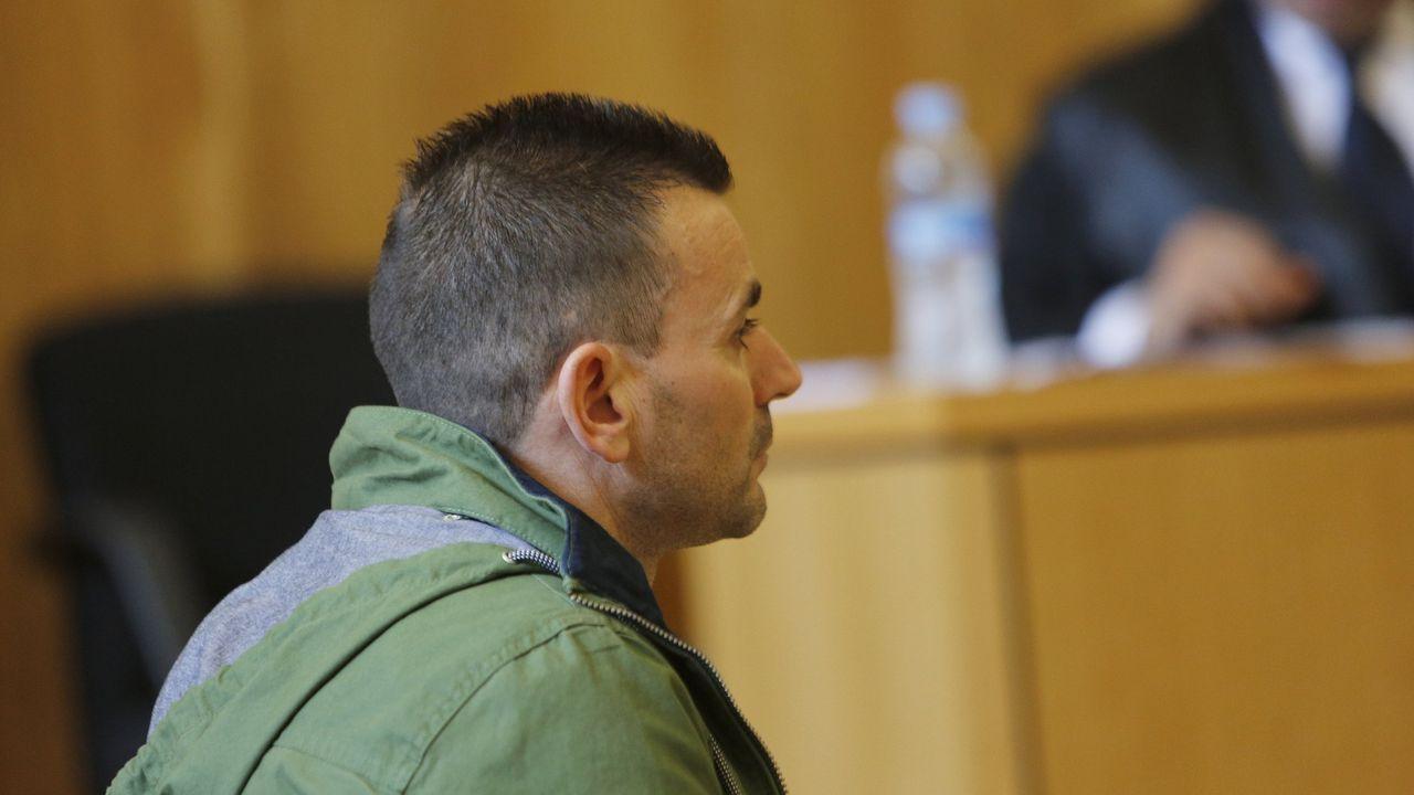 Óscar Ferreño durante el juicio celebrado en la Audiencia coruñesa