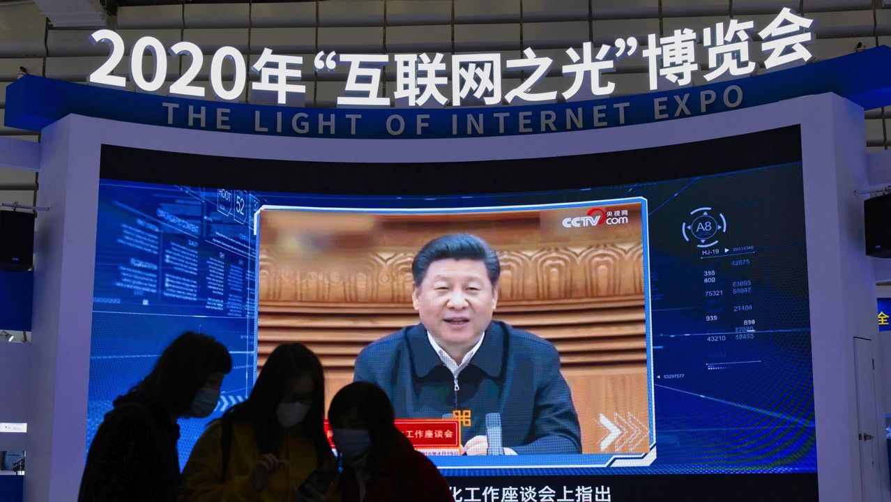 Xi Jinping pronunciando un discurso en noviembre del 2020
