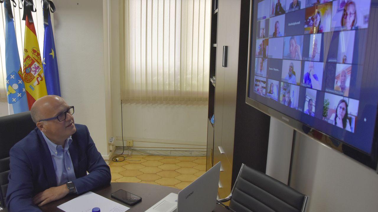 Videoconferencia de Jose Manuel Baltar con líderes locales del PP
