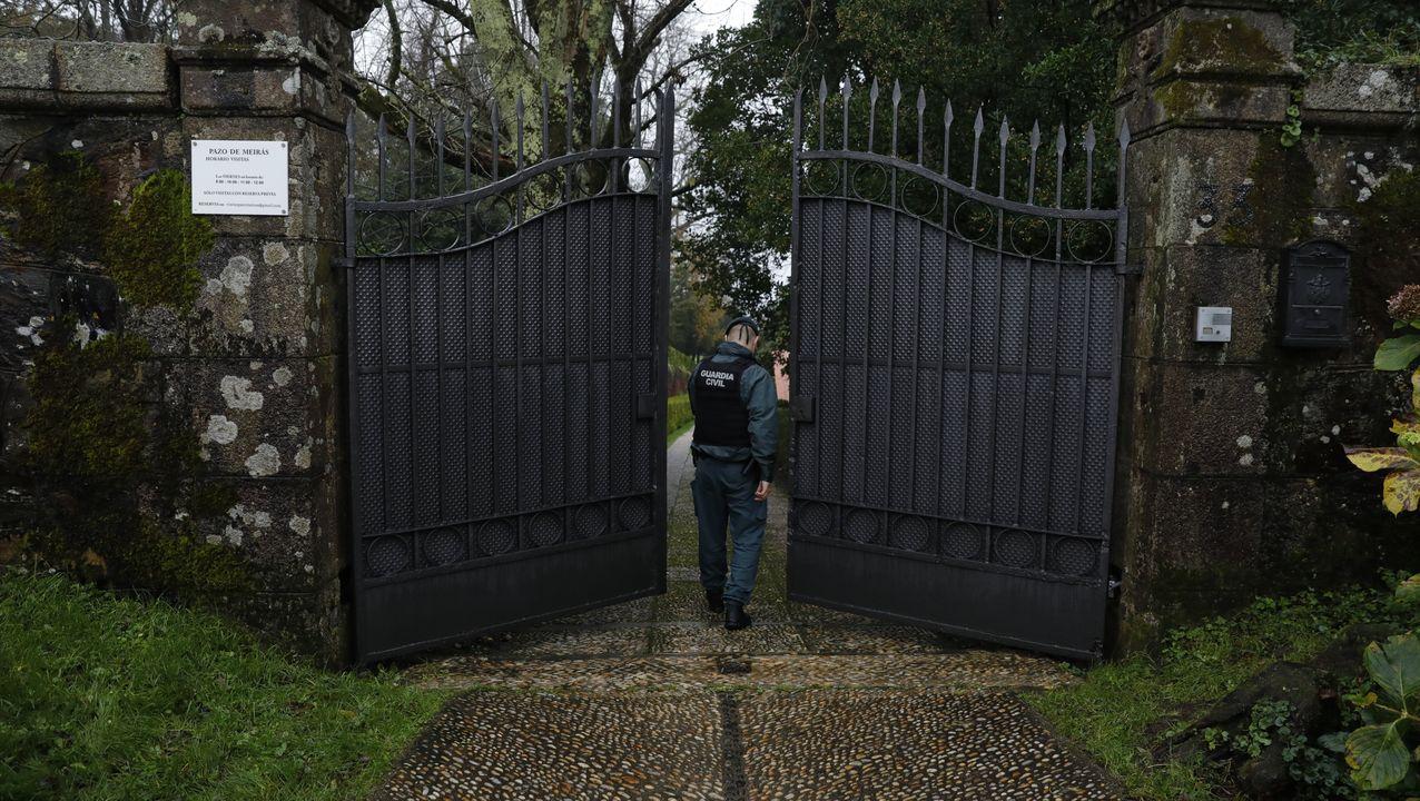 La Guardia Civil se refuerza para vigilar el pazo de Meirás