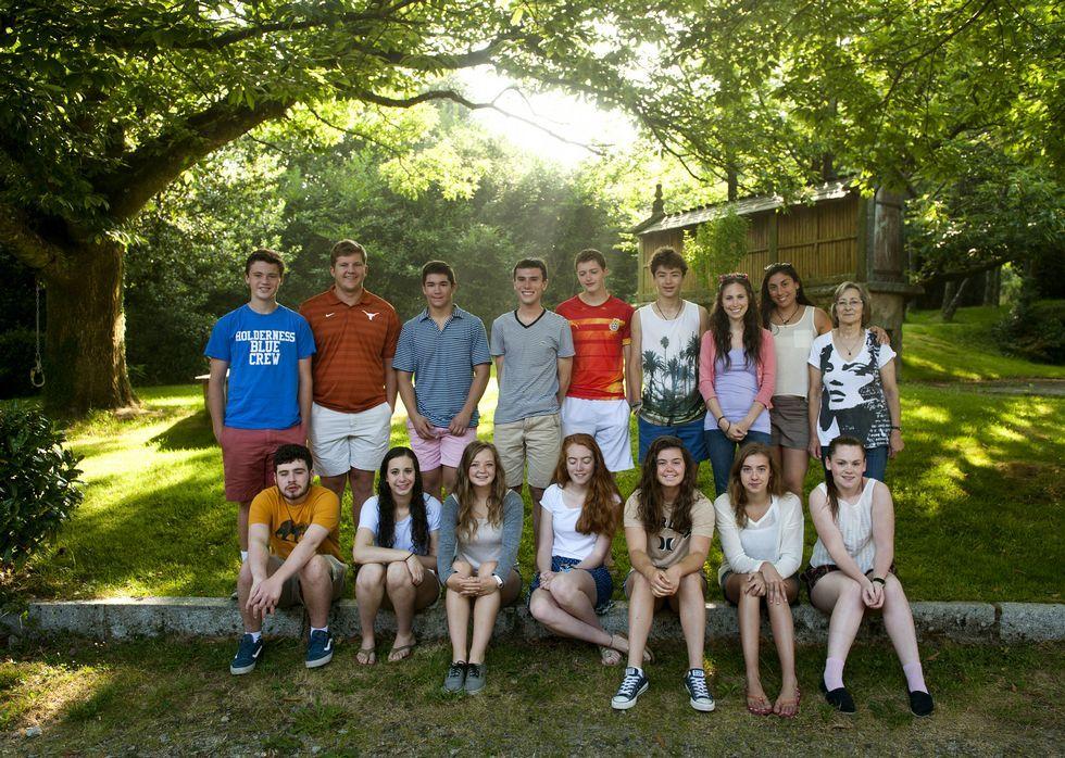 Los estudiantes americanos, en Casa Lourán, donde han pasado unos días.