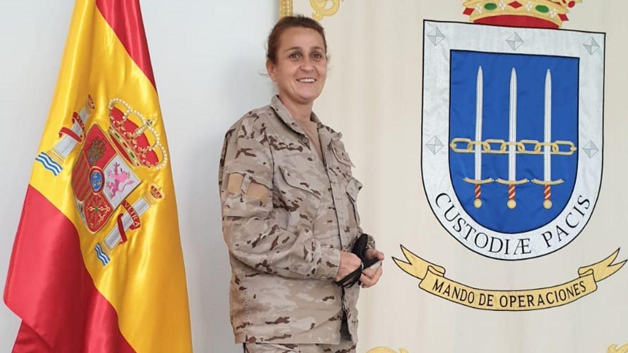 El incendio en las instalaciones de Jealsa en imágenes.Julia del Río es miembro del Mando de Operaciones de Defensa