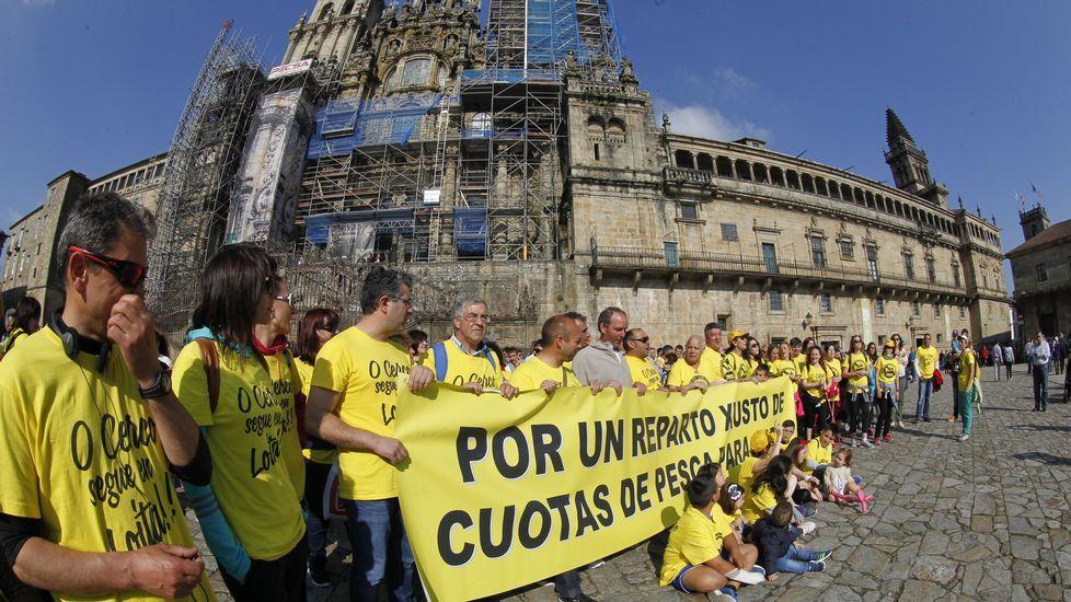 Manifestación del cerco en Santiago