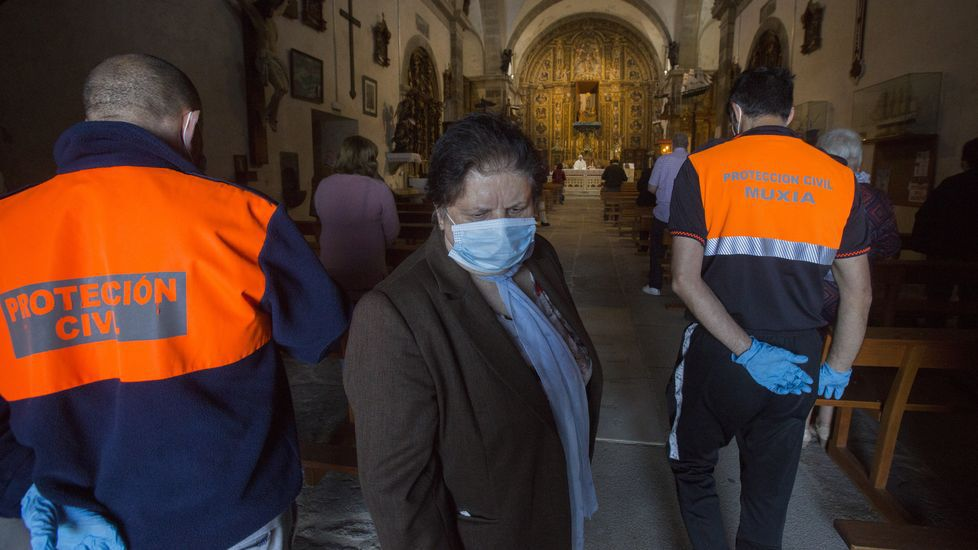 El santuario de A Barca, reabierto ya tras el confinamiento: las imágenes.CPI de Zas