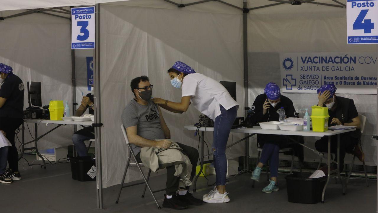 Vacunación en el Paco Paz de Ourense