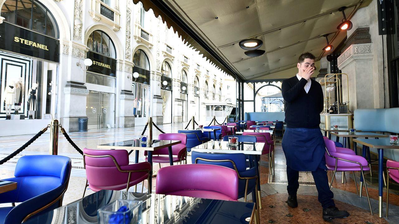 Terrazas vacías en Milán
