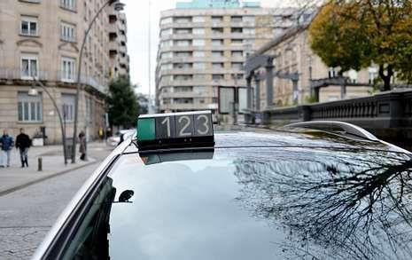 taxi, taxistas, paradas.Llegan a los juzgados los detenidos por el crimen de Oleiros en Nochevieja