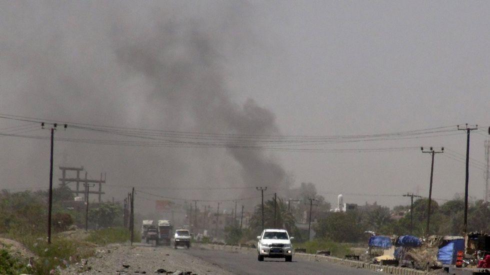 Nueva jornada de enfrentamientos en Yemen.Imagen del ataque a la mezquita de Yemen