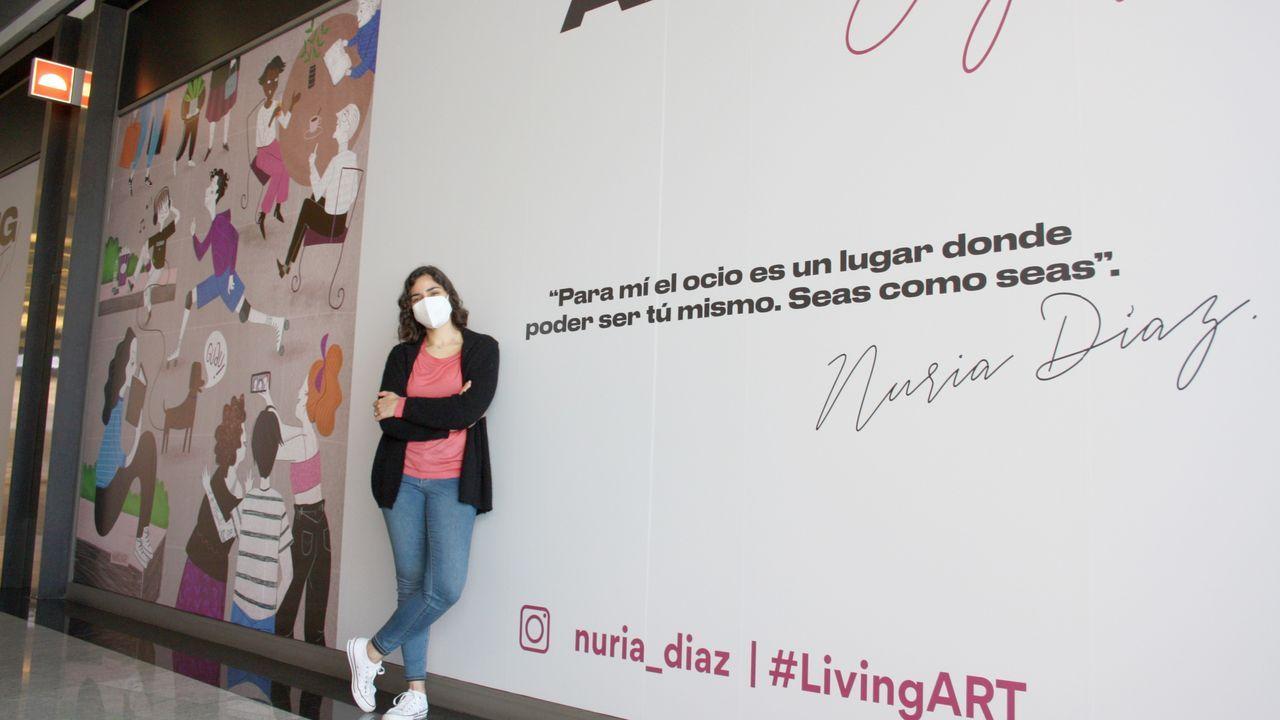 Nuria Díaz es una de las ilustradoras que participa en el proyecto Living Art de Marineda