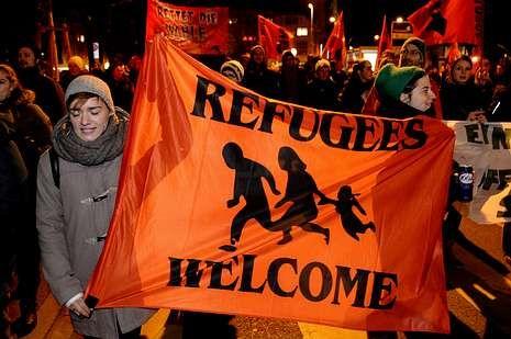 Protesta en Zúrich contra el cupo de extranjeros.