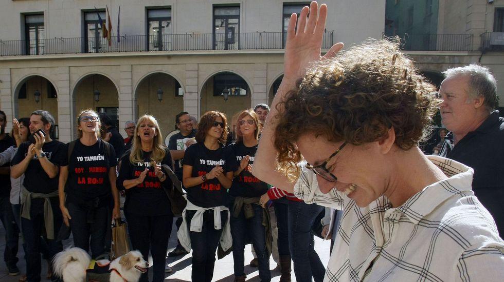 La llegada de los reyes de Jordania a España.Vista parcial del colegio Infanta Elena de Monforte.