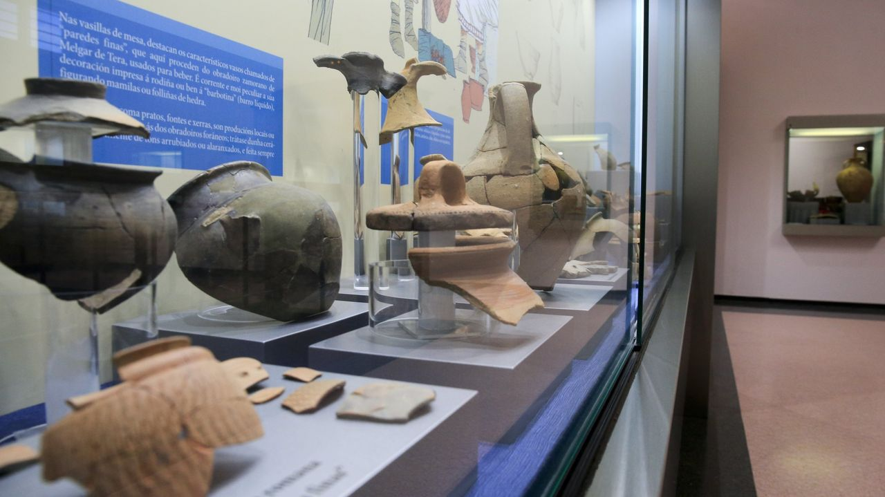 Piezas mostradas en una de las salas del Museo de Viladonga