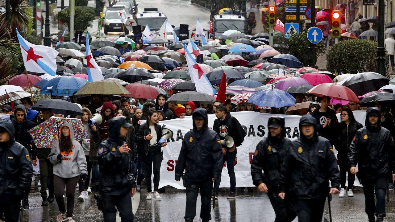 Manifestación de la Lomce en Vigo en una imagen de archivo