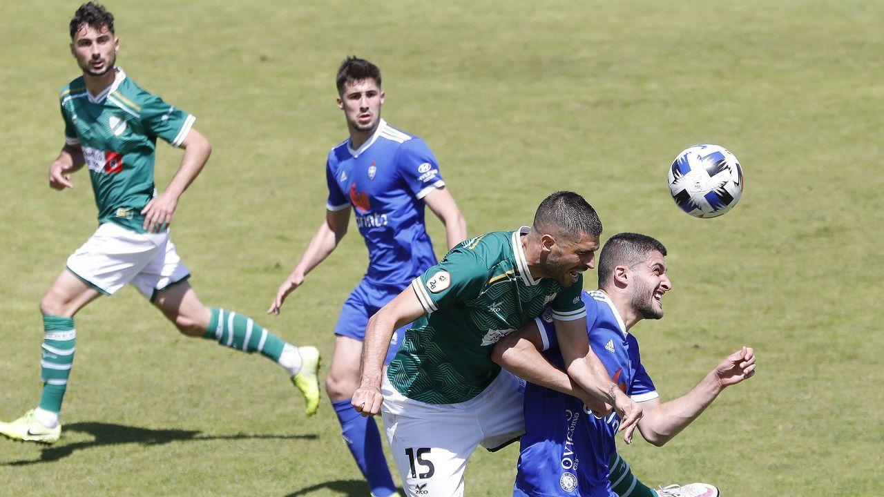 Las imágenes del partido entre el juvenil del Pontevedra y el Alondras
