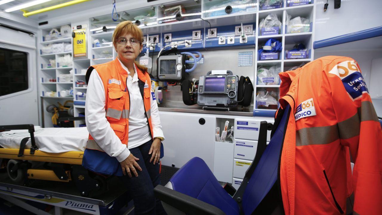 Estefanía Fernández, médica del 061 y delegado de la UGT de este servicio en Lugo
