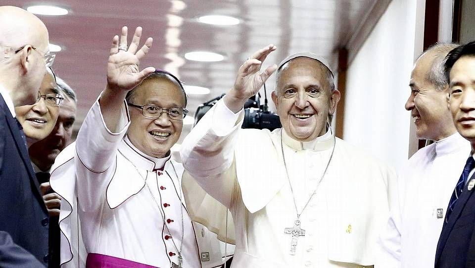 Vehículo usado por el papa Francisco en su viaje a Corea del Sur