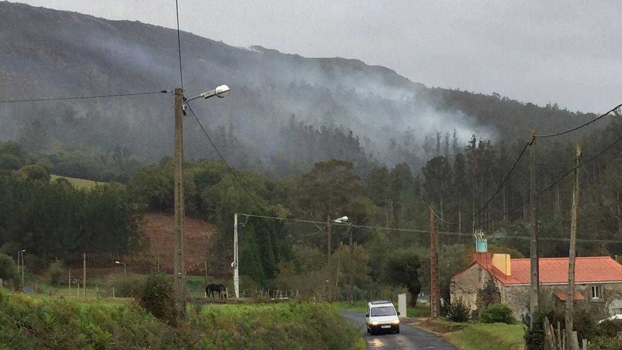 Incendio en la zona de Ferrol