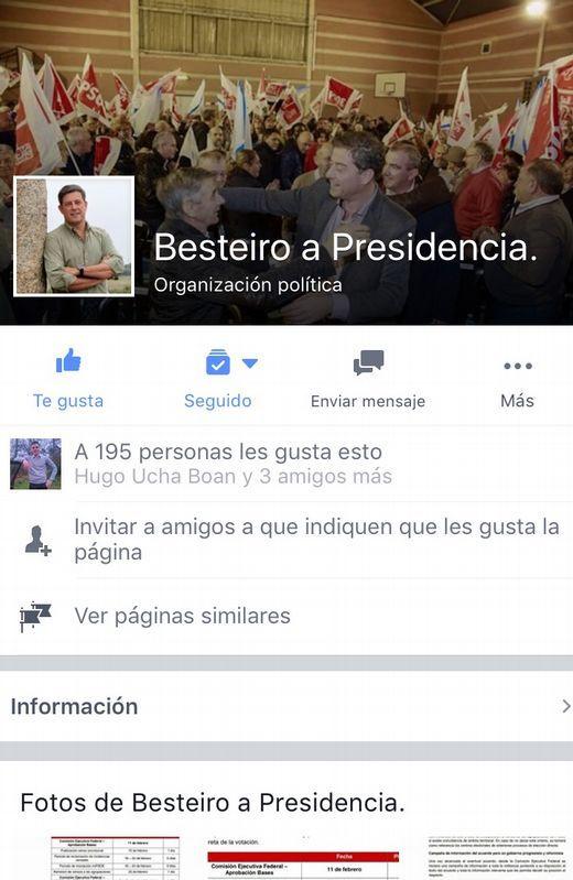 Captura de la plataforma en Facebook.