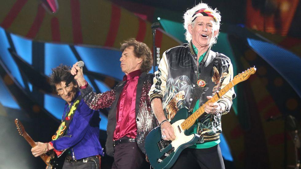 El histórico concierto de los Rolling Stones en La Habana.Tres leyendas sobre el escenario: Keith Richards, Mick Jagger y Ronnie Wood