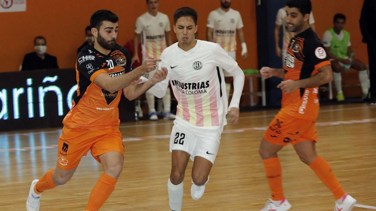 Manu Sánchez, en una imagen del partido del domingo contra el Sevilla