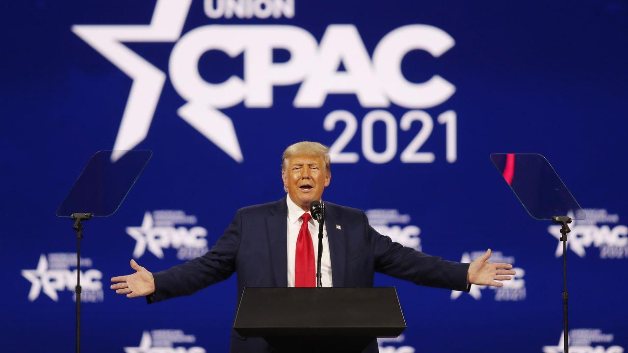 Trump en la conferencia política conservadora de Florida