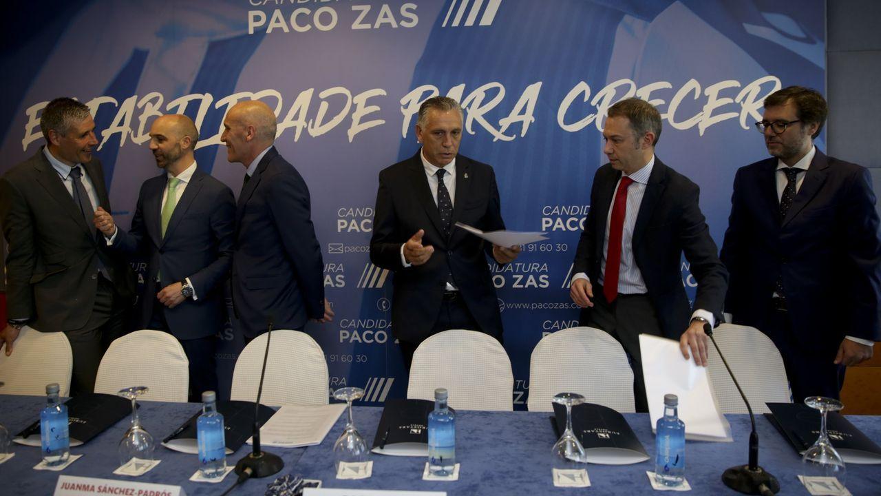 Paco Zas, el día de la presentación de su candidatura el 13 de mayo del 2019