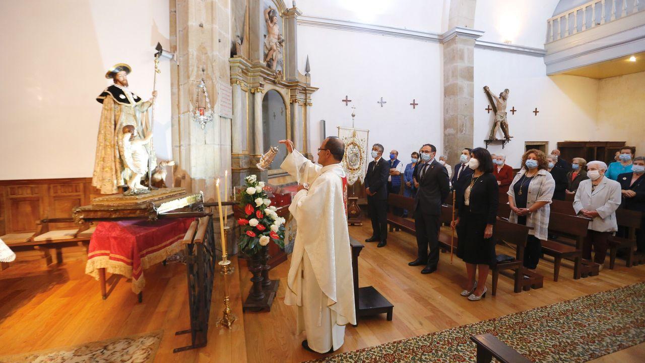 Compostela se encomendó a San Roque contra la nueva peste.Feijoo, en la sesión constitutiva del Parlamento