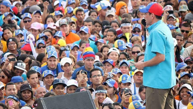 Acto de campaña de Capriles