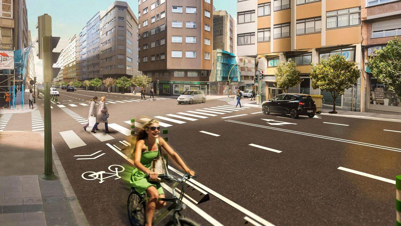 La desaparición del viaducto dejará un espacio visualmente más amplio con carriles para bicicletas a ambos lados