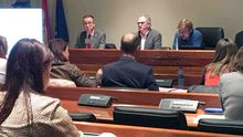 El consejero de Salud, Pablo Fernández, comparece en comisión, en la Junta General